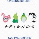 Christmas Friends SVG, Christmas Movie Characters SVG, Christmas Movie Clipart