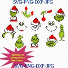 Grinch Svg, Grinch Bundle Svg, Christmas Svg, Christmas Decor Svg, Christmas Svg