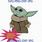 Baby Yoda Mandalorian Star Wars The Child 2020 Disney, Baby Yoda SVG, baby Clipart