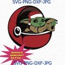 Christmas Baby SVG clipart, baby svg, yoda clipart, new year svg, Cricut Cut Files