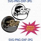 Baby SVG clipart, baby svg, yoda clipart, Cricut Cut Files, baby Clipart, SVG Files yoda