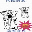 Baby Yoda Soup Star Wars The Mandalorian Boba Fett Jedi Master Vector svg