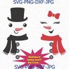 Snowman SVG, snowman face svg, Snowman Scarf and Buttons Svg, Snowman Face