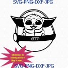 Baby Yoda svg, Mandalorian Star Wars, The Child 2020 Disney, SVG DXF