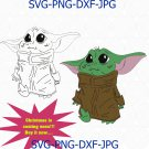 Baby Yoda svg, Mandalorian Star Wars, The Child 2020 Disney, Baby Yoda, Baby Yoda