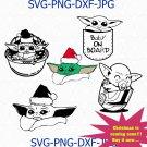 Christmas Baby Yoda SVG, Christmas Baby Yoda, Baby Yoda Vector, Baby Yoda png