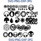 Magic the Gathering, MTG Mana Symbols, Mountain Island, Plains Forest Swamp