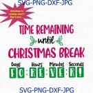 Christmas Break Teacher Countdown Sublimation and cut file, svg, png