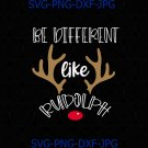 Be Different Like Rudolph Teacher Mom Kindness Christmas Cut and Sublimation File