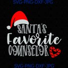 Santa's Favorite Counselor svg, Counselor christmas svg, santa Counselor svg, Chrismas present