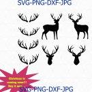 Deer SVG, Moose SVG, Antler svg, Deer silhouette, Moose silhouette, Deer head