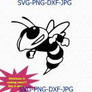Yellow Jackets Hornets Mascot college SVG File Cutting, DXF, design cutting files