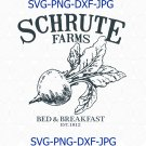 Schrute Farms The Office SVG, Schrute Farms Bed and Breakfast, Scranton