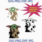 Christmas Baby SVG clipart, baby svg, yoda clipart, new year svg, Cricut Cut Files, baby Clipart