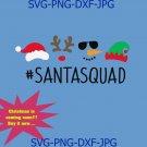 Santa Squad Svg, Christmas Svg, Kids Christmas Svg, Elf, Santa Hat Svg, Reindeer Svg