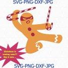 Gingerbread man Svg, Funny Christmas SVG, Ninjabread svg for Cricut, Candy Cane Svg