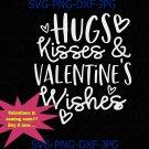Hugs, Kisses and Valentine's Wishes svg, valentines svg, Valentine's Day svg