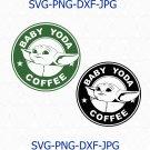 Baby Yoda Coffee svg, png, Baby Yoda Coffee,Mandalorian svg, Star Wars svg