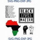 Black lives matter svg, black power, beauty afro svg, natural hair, black history month
