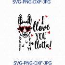 Valentine's Day SVG File, I Love You a Lotta SVG, Cutting File Designs, Cricut File