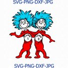 Thing 1 thing 2 svg, cat in the hat svg, thing 1 svg, thing 2 svg, Thing SVG 1 2 Hat Mom Dad