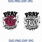 Pray Svg, Pray Wait Trust Repeat Svg, Spiritual Quote Svg, black history svg, Afro Woman Svg