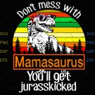 Don't Mess with Mamasaurus You'll Jurasskicked, Mamasaurus svg, Don't Mess With svg