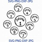 Drunk 1, Drunk 2, St Patricks Day SVG, Thing 1, Thing 2, SVG, PNG, Clipart, Download, Cricut
