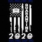 Quarantine 2020 American Flag Distressed, Graduation Day, Class of 2020 svg, Class of 2020 shirt,