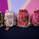 50 Indian Handmade Potli Bag Drawstring Pouch Wedding Favor Bags Return Gifts
