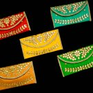 Lot Of 5 Multicolour Women's Clutch Purse Pouch Birthday Return Gift Wedding Favor Free Delivery
