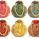 Indian Wedding Favor Potli Bags Bridesmiad Gift Return Gift For Guests Free Ship