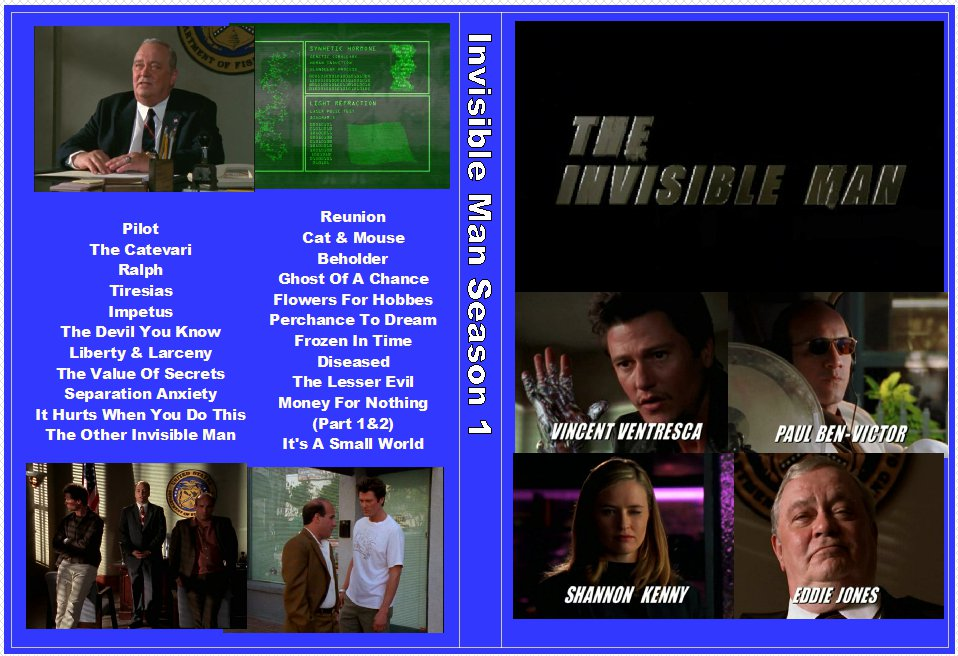 Invisible Man The Complete Series Both Seasons on 12 DVDS