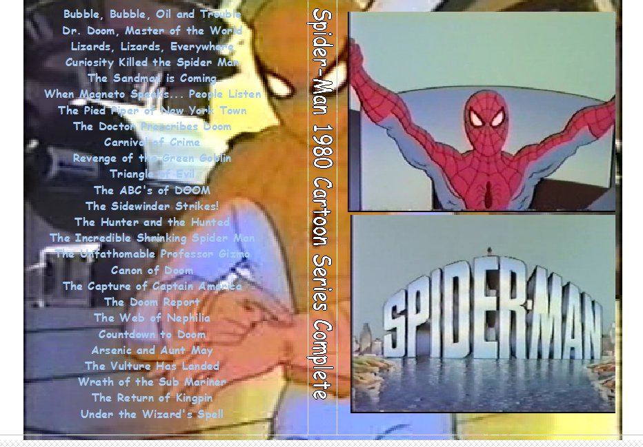 Spiderman 1981 cartoon The complete series on 2 DVDs