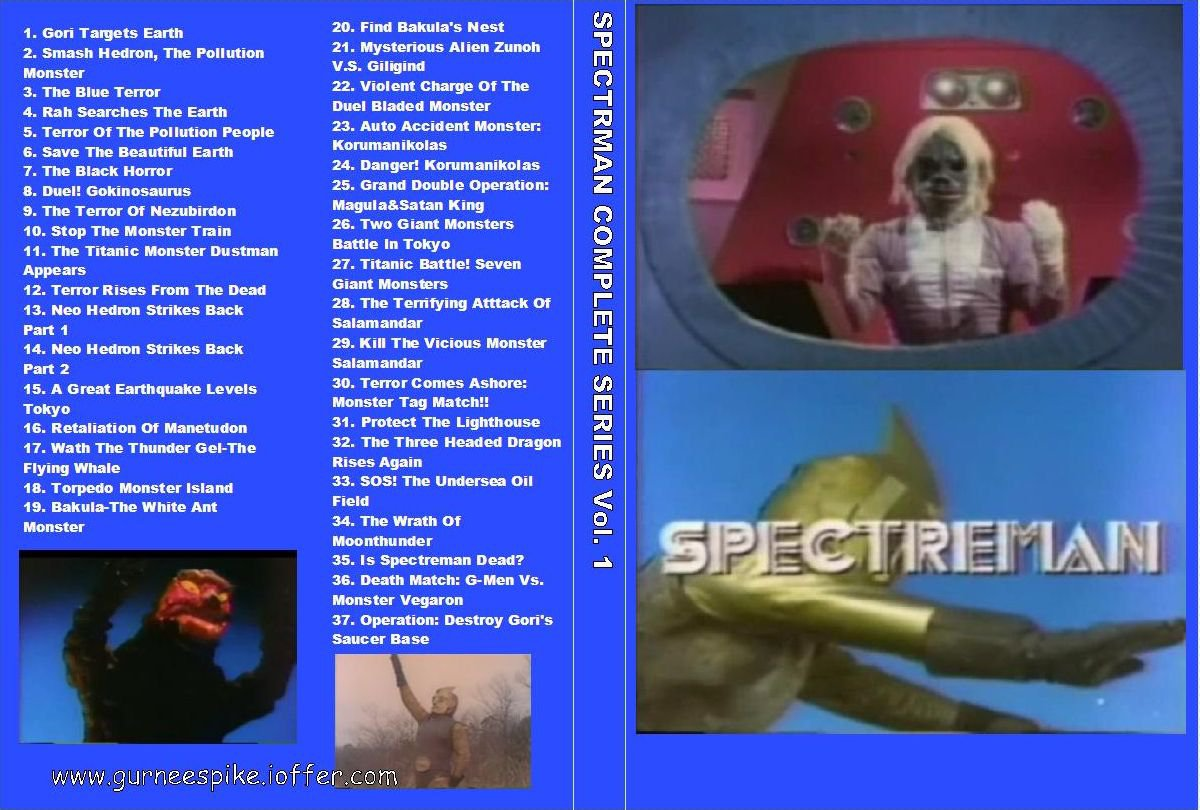 SPECTREMAN COMPLETE SERIES on 7 DVDs