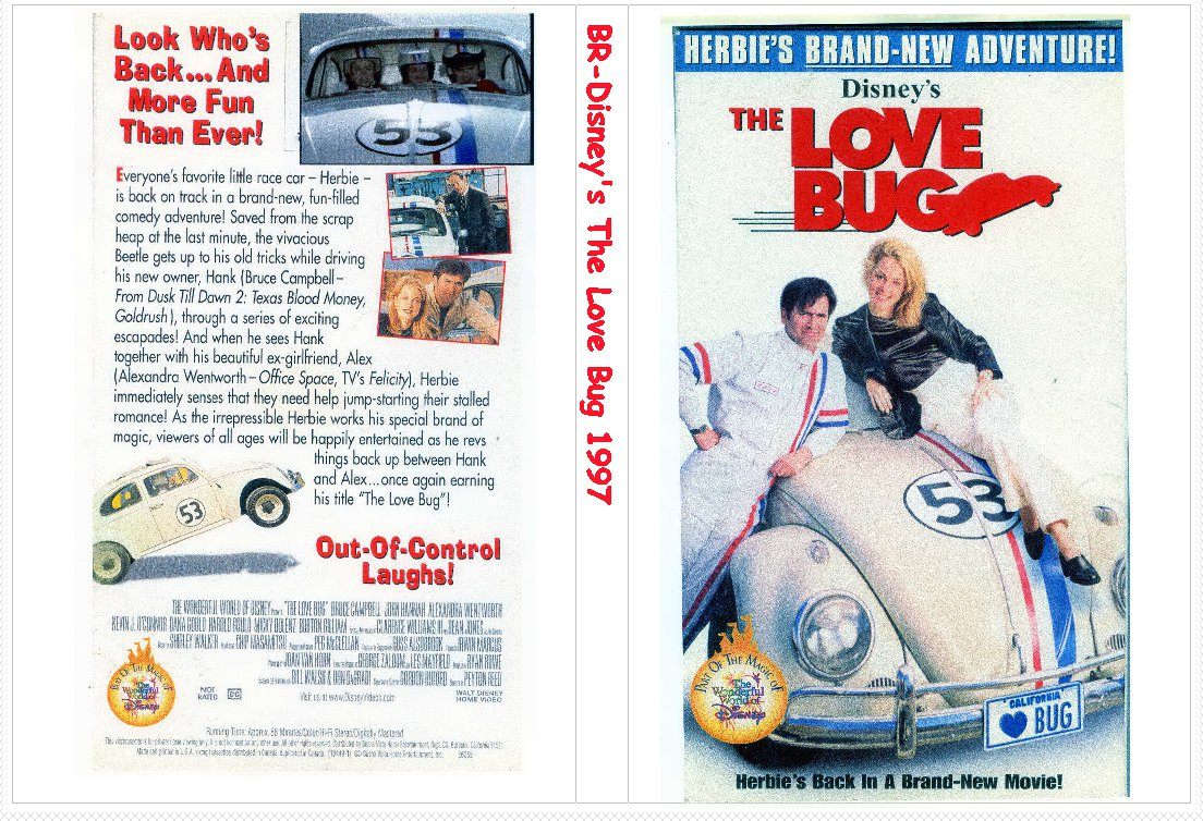 DISNEY'S The Love Bug Starting Bruce Campbell 1997 on 1 DVD