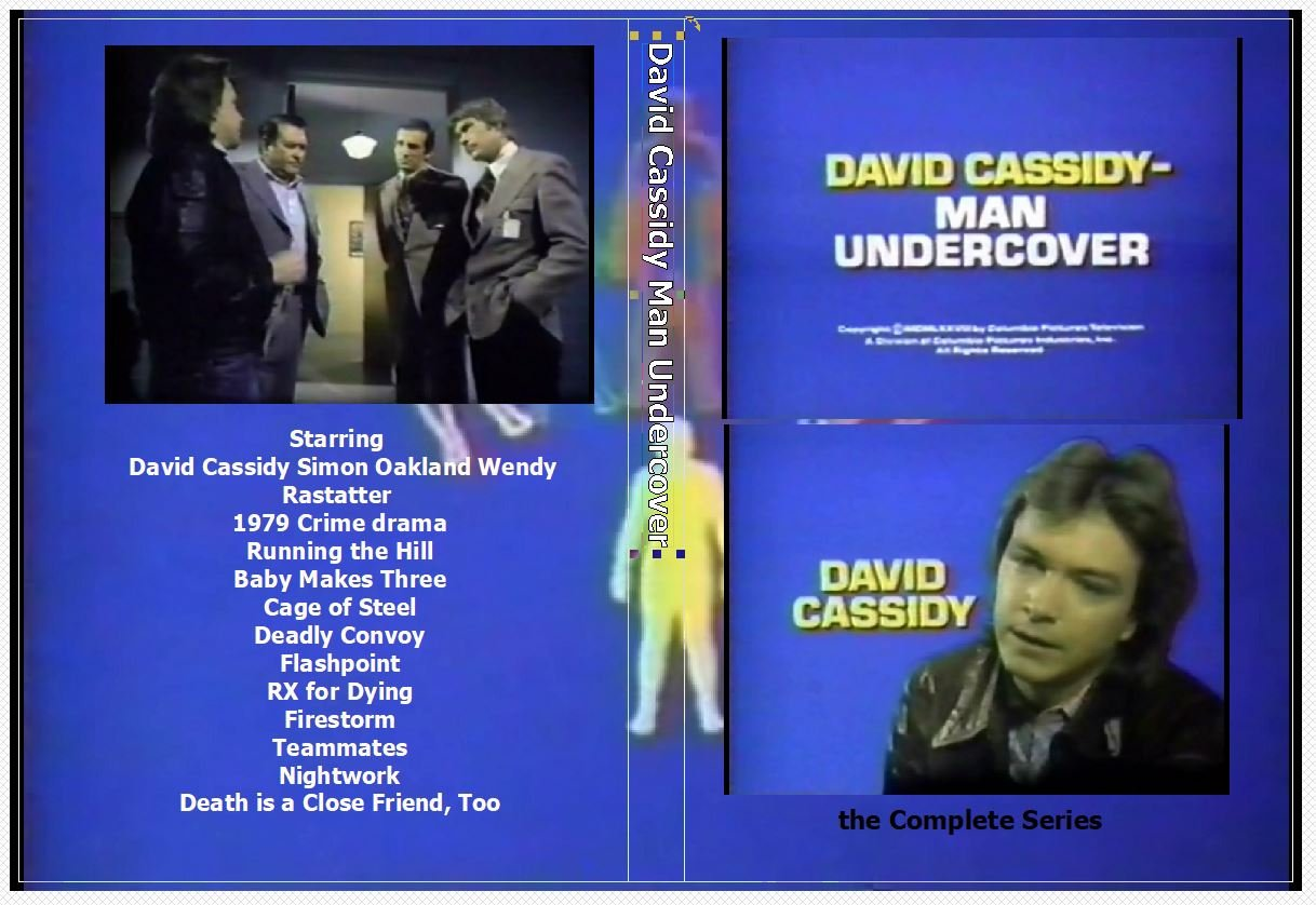 David Cassidy Man Undercover the Complete Series on 2 DVD�s