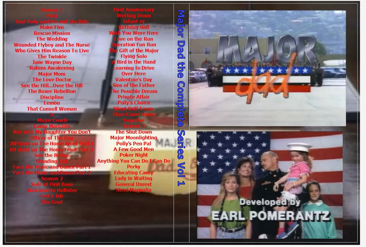 Major Dad the Complete Series on 10 DVDs