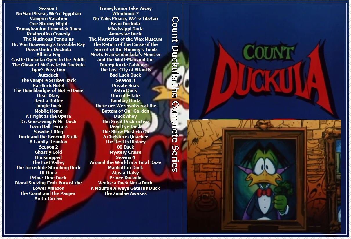 Count Duckula the Complete Series on 6 DVDs