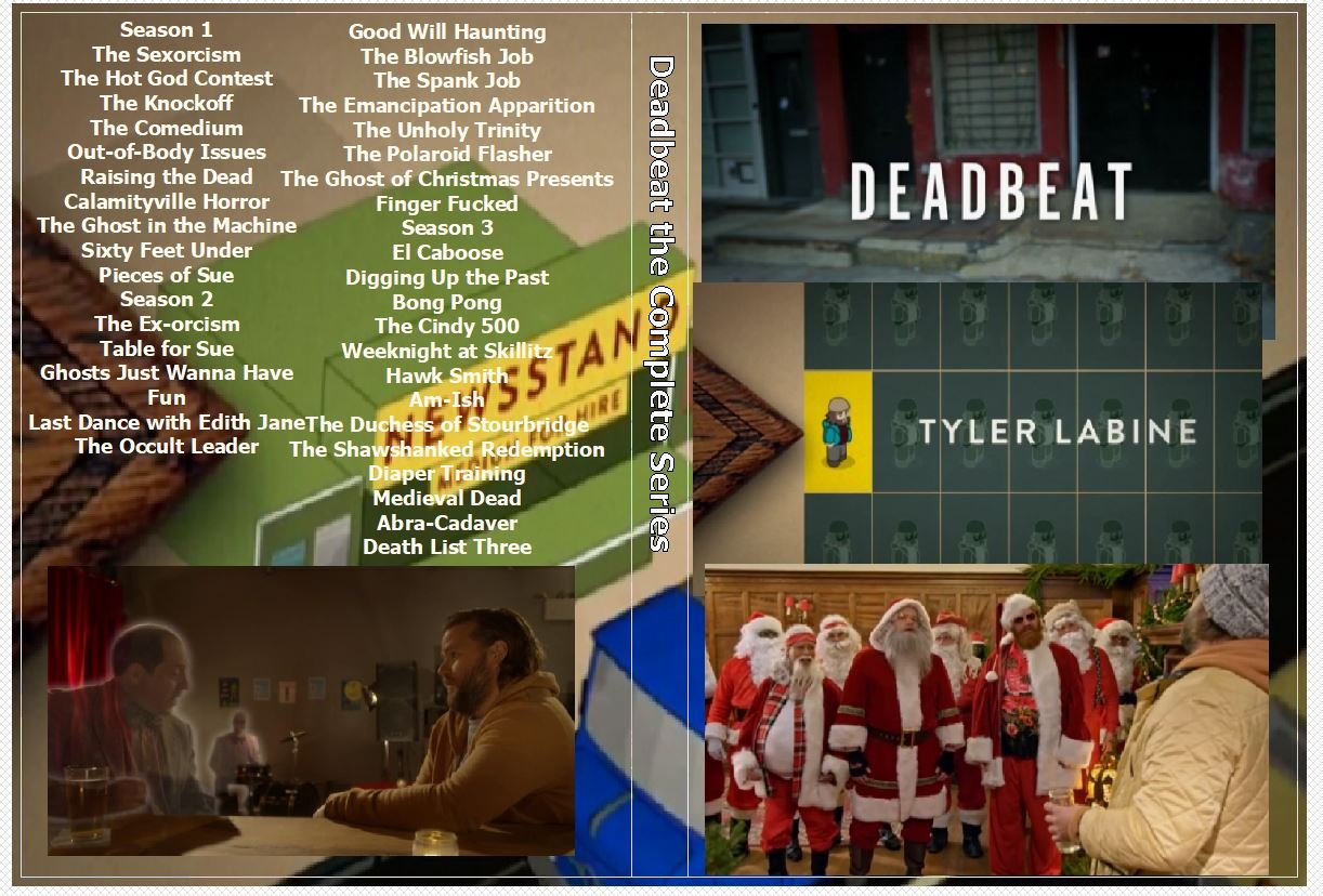 Deadbeat the Complete Series on 4 DVDs