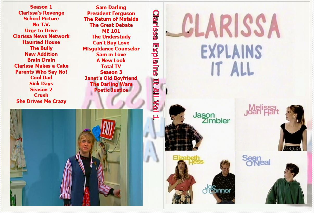 Clarissa Explains it all the Complete Series on 7 DVDs