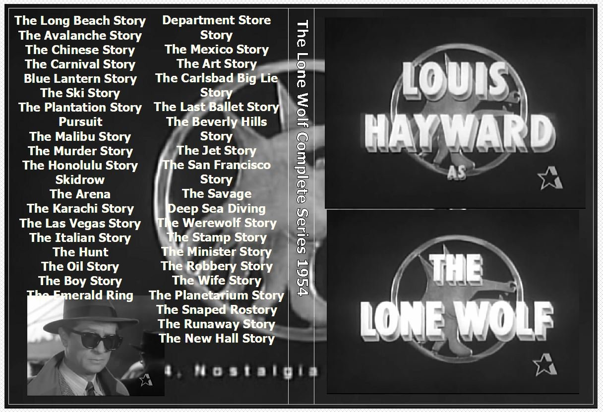 The Lone Wolf Complete Series on 5 DVDs Luis Hayward 1954