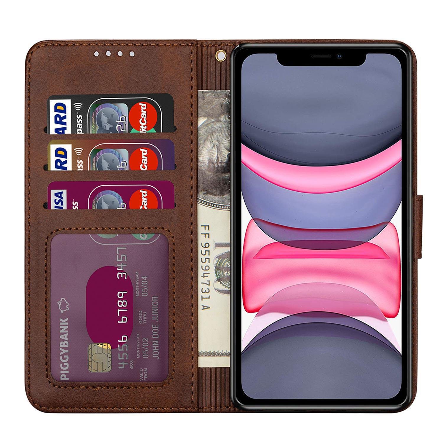 For Apple iPhone 12  8 7Plus 11 Pro MAX Case Leather Flip Wallet Cover Book