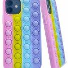 iPhone 7 8 SE2020 XR 12 PROMAX 11 XS/X Poppits Fidget Push Bubble Phone Cover