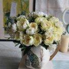 8 Head Artificial Peony Silk Flowers Wedding Party Bouquet Home Garden Decor