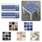 18/90Pcs Self Adhesive Tile Wall Sticker Home Decal DIY Floor Wall Stickers 10cm