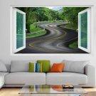 Curvy Road Trees 3D Wall Art Sticker Mural Decal Home Office Decor GT33
