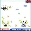Cartoon Panda Removable DIY Room Home Decor Wall Stickers Decal ①a
