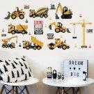 Cartoon Excavator Wall Stickers Home Decor Room Decoration Sticker Bedroom Sale