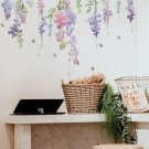 Colorful Floral Plants Flowers Butterfly Wall Sticker Art Home Decor 30*60cm UK